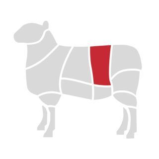 Lamm-Rücken m. Knochen ca. 1 kg