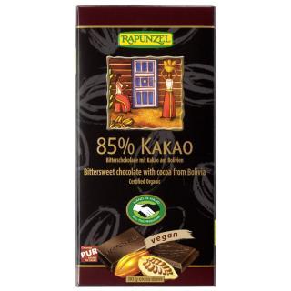 Bitterschokolade 85% Kakao 80gr