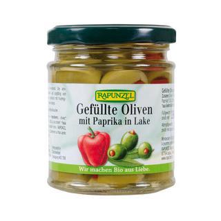 Oliven grün m. Paprika gefüllt 190gr
