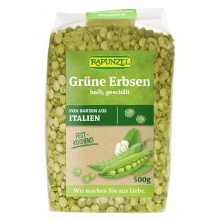 Erbsen grün getrocknet  500 g DAV