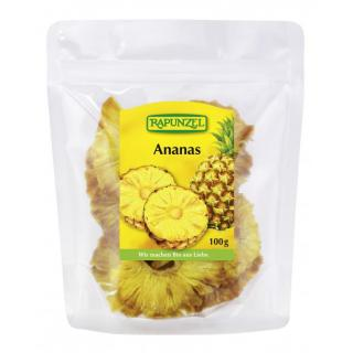 Ananas Stücke, getrocknet, 100gr