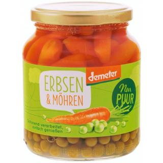 Erbsen & Möhren 350 g  NUR